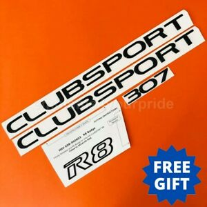 VE HSV 307 Clubsport Gloss Black Badge Set
