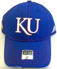 407c49192fbd9 NCAA Kansas Jayhawks Adidas Blue Curve Brim Buckleback Cap Hat OSFA NEW!