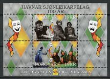 Faroes Faroe Islands 2018 MNH Actors Association 100 Yrs 2v M/S Theatre Stamps