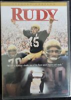 Rudy (DVD, 2000, Special Edition) Sean Astin Notre Dame Brand New Sealed