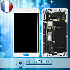 Ecran complet pour Samsung Galaxy Note 4 Edge N915 blanc vitre + LCD sur châssis