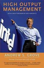High-Output Management by Andrew Grove (Paperback, 1995)