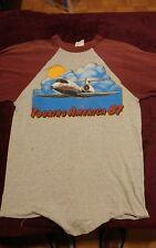 vintage concert 1981 Foghat America Usa tour baseball 3/4 sleeve shirt