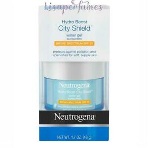Neutrogena Hydro Boost City Shield Water Gel Sunscreen SPF 25 1.7oz / 48g NIB