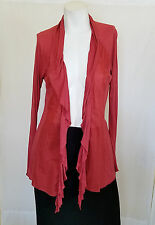 Tiny Anthropologie Cardigan Sweater Size XS Open Front Cascading Embroidered