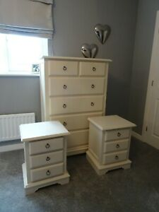 NEXT ISABELLA DRAWER UNIT + 2 MATCHING BEDSIDE TABLE / CABINET