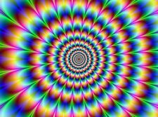 """Psychedelic Trippy Art Fabric poster 17"""" x 13"""" Decor 43"""