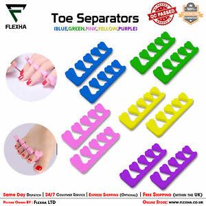 Nail Art Soft Toe Separators Finger Spreader Manicure Pedicure Salon Foam Spacer