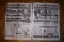 Gazzetta dello Sport 25 e 26 Maggio 1989 Milan Steaua Coppa Campioni
