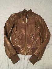 Mackage Leather Coat In Brown
