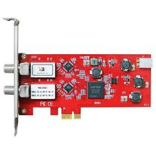 TBS TBS 6902 PCI-E DVB-S2 Dual Tuner TV SATELLITARE CARD Orologio record Freesat HD
