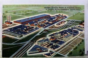 Ohio OH Dayton General Motors Corporation Frigidaire Division Plants Postcard PC