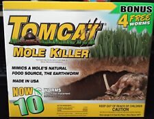 TomCat Mole Killer Bait Worms, 10 Pack ~ New Sealed, USA SELLER