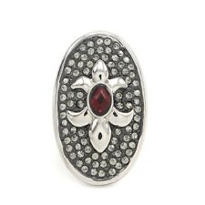 HSN Loree Rodkin por rojo granate y Cristal Flor de Lis Pave Anillo Talla 5 $99.99