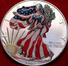 Uncirculated Colorized 1999 American Silver Eagle Dollar