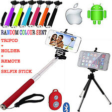 MONOPOD SELFIE STICK+TRIPOD+BLUETOOTH REMOTE SHUTTER FOR SAMSUNG GALAXY XCOVER 3