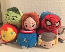 Authentic Disney Parks Or Disney Store Marvel Avengers Spiderman Tsum Tsum Set 6