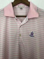 Deepdale Golf Club Peter Millar Summer Comfort Polo Golf Shirt Men's Medium