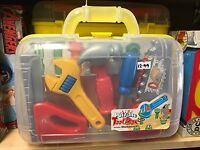 Tool Set - Portable in Carry Case Children's Kids Plastic Tool Toy Set NEW