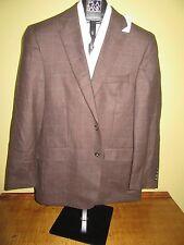 $695 new Jos A Bank JOSEPH brown with pane pattern jacket 40 Regular regular fit