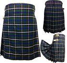 Men's Scottish Douglas Blue 5 Yard's 13 Oz Tartan Kilt Made For Casual Use