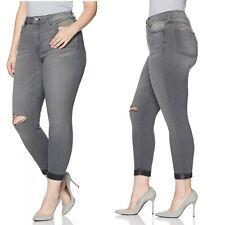 NYDJ Girlfriend Jeans 16 Future Fit Alchemy Gray Knee Slit NWT