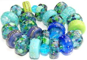 "Sistersbeads ""A-Poseidon"" Handmade Lampwork Beads"