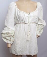 NWT Chelsea & Violet Anthropologie Peasant Boho Embroidered Blouse Top S