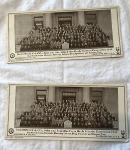 Lot Of 2- Ink Blotter Cards McCormick & Co. Bee Brand 1930 Biennial Convention