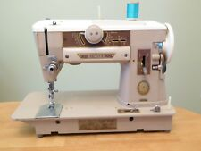 Vintage SINGER MODEL 401A SLANT-O-MATIC ZIG-ZAG SEWING MACHINE WITH ACCS