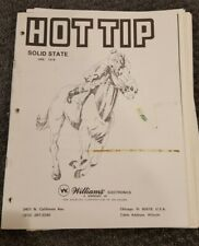 Williams Hot Tip Electronic Version Pinball Machine Manual and Schematics