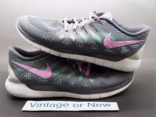 Women's Nike Free 5.0 Dark Grey Light Magnet Turquoise Running 642199-061 sz 10