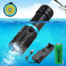 Flashlight Diver Light Powerful LED Underwater Torch Waterproof For Scuba Diving