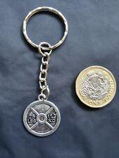 Body Fitness Gym Weight Training Keyring Key Chain Tibetan Silver