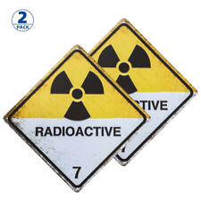 2 Pack Radioactive Zombie Tin Sign Metal Sign Metal Decor Wall Sign Wall Poster