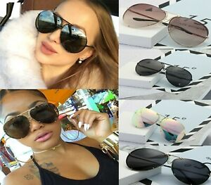 Black Oversized Women Sunglasses Aviators Luxury Shades Celebrity Sunglasses UK