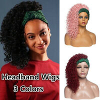 Women Afro Lady Fluffy Curly Wavy Natural Full Hair Wigs Hairpiece With Hea L6C0