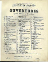 Rossini ~ Ouverture Diebische Elster ~ alte übergroße Noten - 4-händig