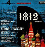 TCHAIKOVSKY 1812 STRAVINSKY Stokowski  Collectible Vintage Vinyl LP DECCA KA