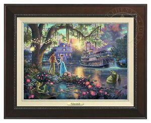 Thomas Kinkade Studios Princess and The Frog 12 x 16 Classic (Espresso Frame)