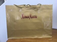 """NEIMAN MARCUS SHOPPING/Gift Paper BAG 16""""x 12"""" x 6"""" Glossy Gold"""