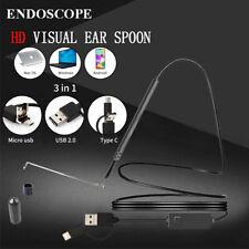 Endoscope Otoscope Usb Ear Cleaning Camera Scope Pick Wax Remover Tool Kit Light