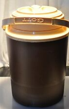 Vintage Gott 1/2 Gallon Water Cooler Jug Thermos Brown & Ivory 1504 Usa