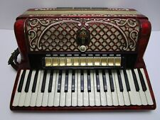 Horch German Red Accordion 120 bass