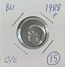 New Listing1988-P Roosevelt 10c Off Center Mint Error Unc