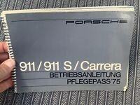 Porsche 911 Carrera MFI 2.7 RS original owners manual German nice condition rare