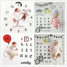 Newborn Baby Girl Boy Monthly Milestone Blanket Mat Photography Photo Prop White