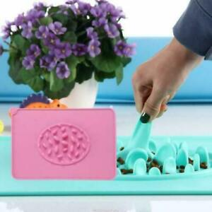 Pet Feeding Mat, Dog Slow Feeder Bowl with Silicone Non-Slip Waterproof Food Mat