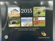 2015 America the Beautiful Quarters Uncirculated Mint coin set E4