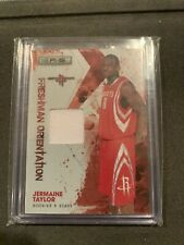 2009 Panini Rookies And Stars FO Basketball Game Used Card Of Jermaine Taylor!!
